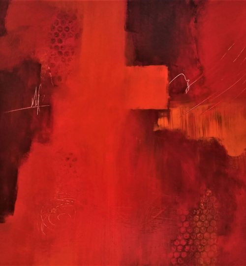 """""""Holy Cross"""", Acrylic on Canvas, 18"""" x 18"""" - $125 +sh"""